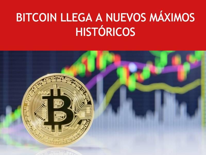 Bitcoin llega a nuevos maximos históricos