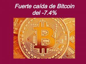 Bitcoin cae bruscamente desde sus máximos hist
