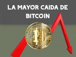 La mayor caída de bitcoin