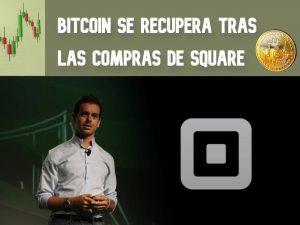 El bitcoin se recupera tras las compras de Square