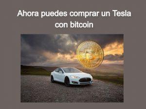 comprar un Tesla con bitcoin