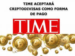 TIME acepta criptodivisas como forma de pago
